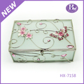 New Product HX-7158 Square Butterfly Decorative Jewellery Keepsake Boxes Wholesale
