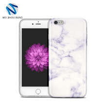 purple and white marble texture phone case For Iphone 6plus 6sPlus