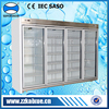 Upright 4 door commercial refrigerator for supermarket