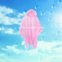 Promotional rain poncho disposable pink