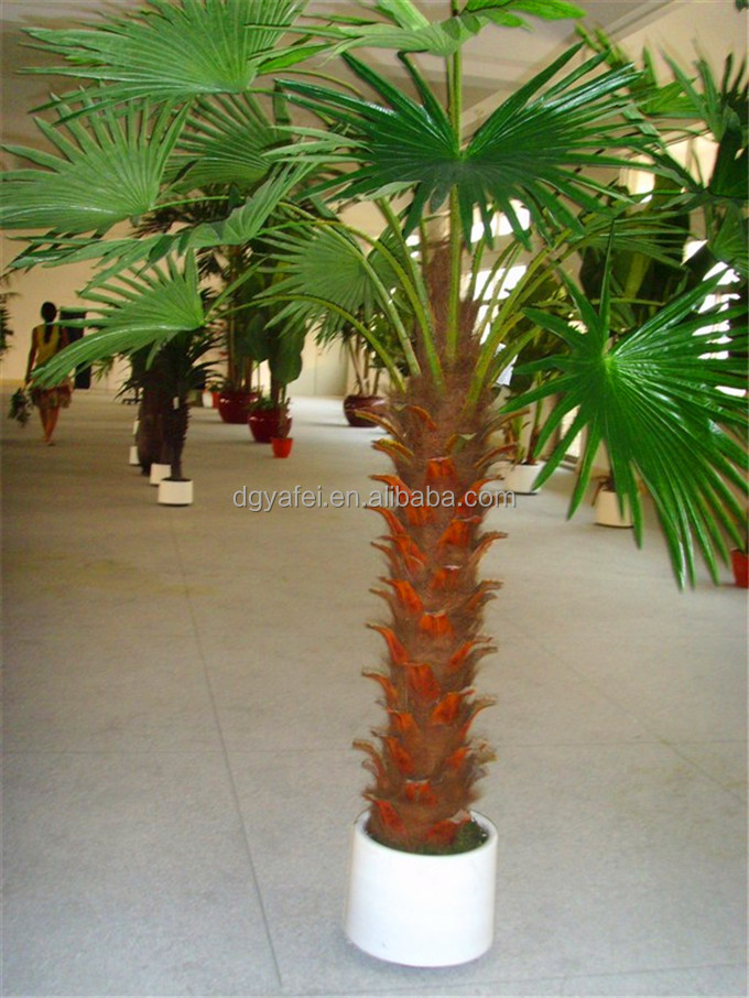 Factory mini porred artificial palm trees for decoration for Faux palmier deco