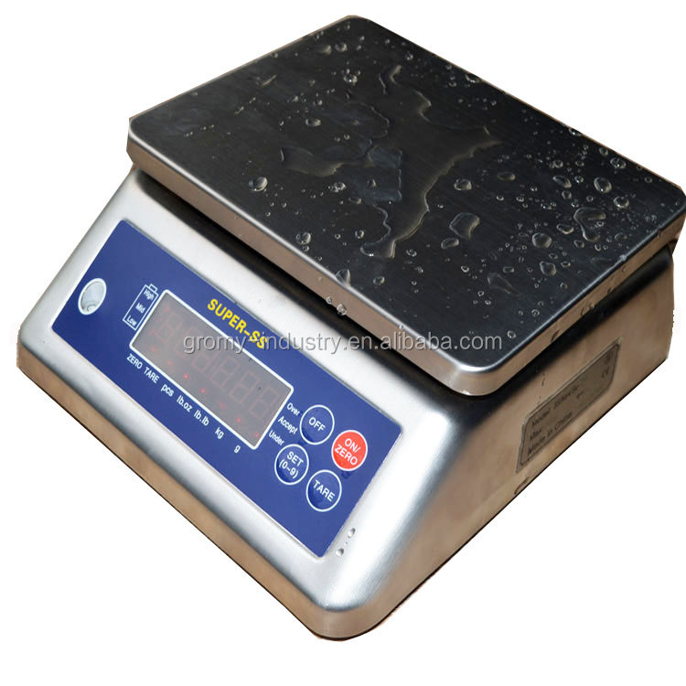 Full stainless steel housing electronic waterproof IP68 washdown scale