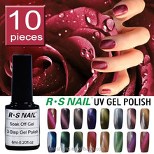 2017 new arrive factory price R S Nail brand 6ml 3 step uv gel cat eye magic colors