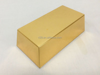 Gold brick tin box