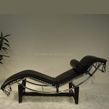 Modern leather replica Le Corbusier LC4 leisure chaise lounge
