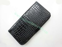 Cell Phone Leather Wallet Case Crocodile Skin Back Cover for iPhone 5G