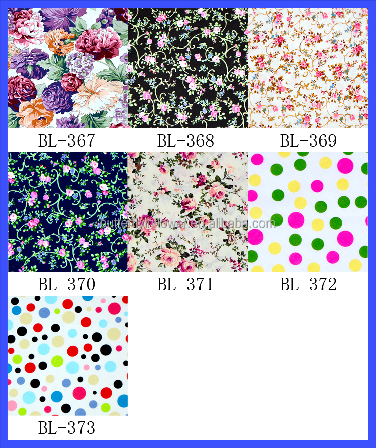 Beautiful floral cotton fabric for children dress small flowers cloth material 100 cotton fabric all print