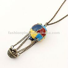 Korea fashion jewelry necklace-colorful hot air balloon