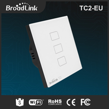 BroadLink TC2 EU standard wireless remote white color light switch plates with glass touch screen