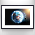 Abstract The Earth Picture Art On Canvas Hang on the Wall Decor For Living Room