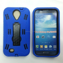 For Samsung Galaxy S4 i9500 Blue Color Mobile Phne Hard Kickstand Cover Case