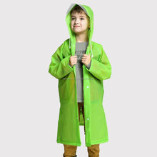 Children plastic recycled rain poncho / raincoat