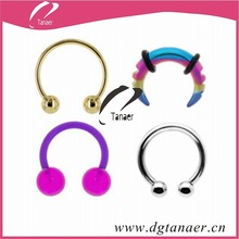 body jewelry piercing false septum ring