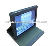 fold and roating stand pu leather case for ipad3