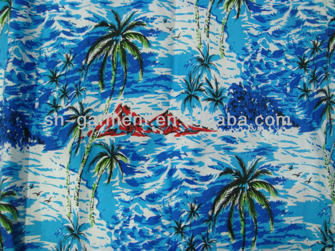 printed hawaii shirt R801