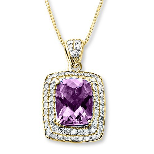 HP130-AM-solitaire amethyst gold pendant charming 18 carat gold dangle diamond accessories