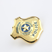 New Gold Zootopia Rabbit Judy Hopps Police Officer Badge Metal Cosplay Props Kids Badge For Child Party Metal Badge