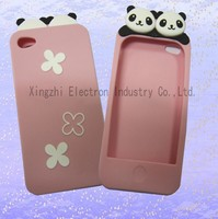 Panda Shaped UV Color Changing Soft Touch Customized A5/5S Silicone Phone Case