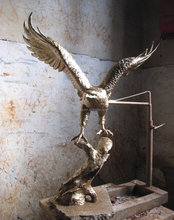 bronze large eagle statue best selling on market