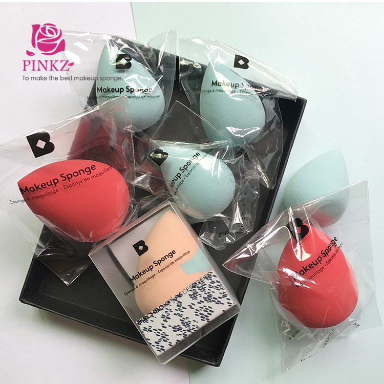 Custom private label teardrop makeup sponge set / beauty blending sponge / blender sponge set OEM factory
