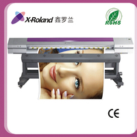 X-Roland 1440 dpi double head eco solvent printer with Epson dx5/dx7 printhead printing machines
