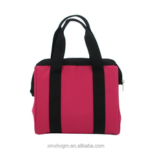 New Style Cheap Wholesale red lightweight Portable Zippered Lunch Cooler Bag for women