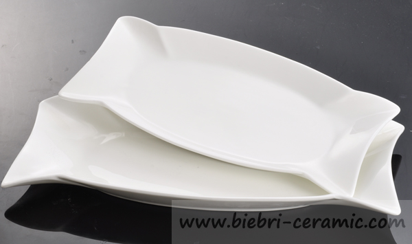 19 inch Super White Fine Porcelain Plates And Dishes For Hotel And Restaurant All Size Available