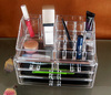 Clear crystal acrylic makeup organizer with 6 drawers