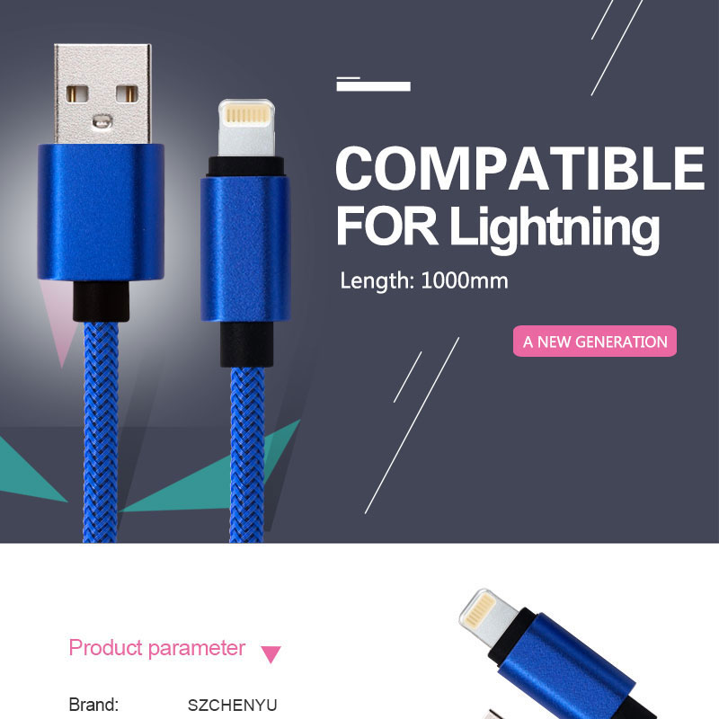 Alta calidad 1 M 8 pin carga de cable USB para iPhone cable