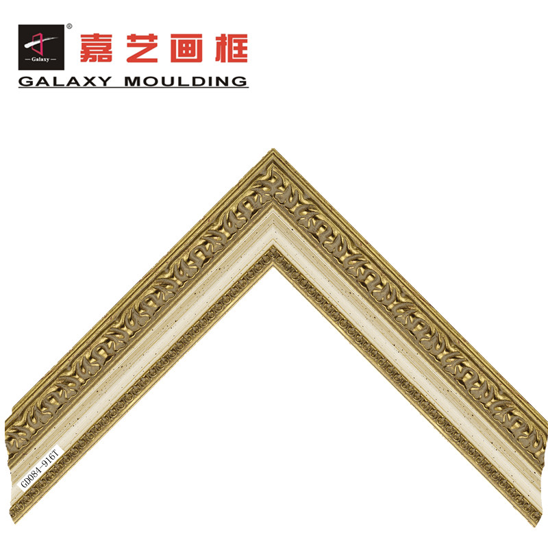 Wholesale Wood-Like PS Mirror Photo Picture Frame Moulding For Sale
