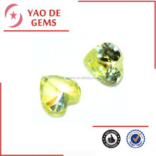 top sale fashion costume jewely, apple green cz stones for rings