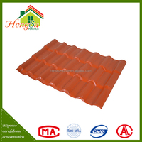 Color stable synthetic resin roof tile for sale
