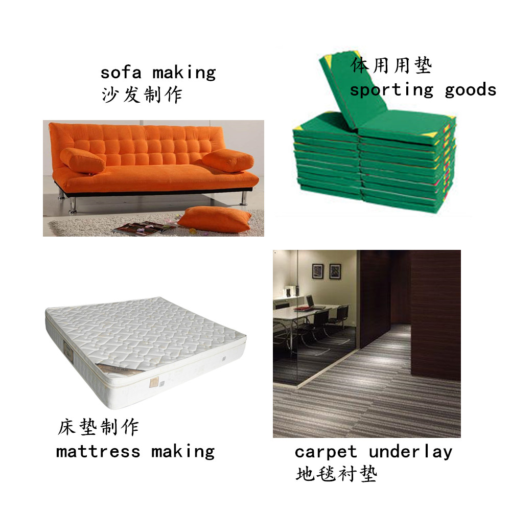 hard type PU rebond foam for mattress , sofa making