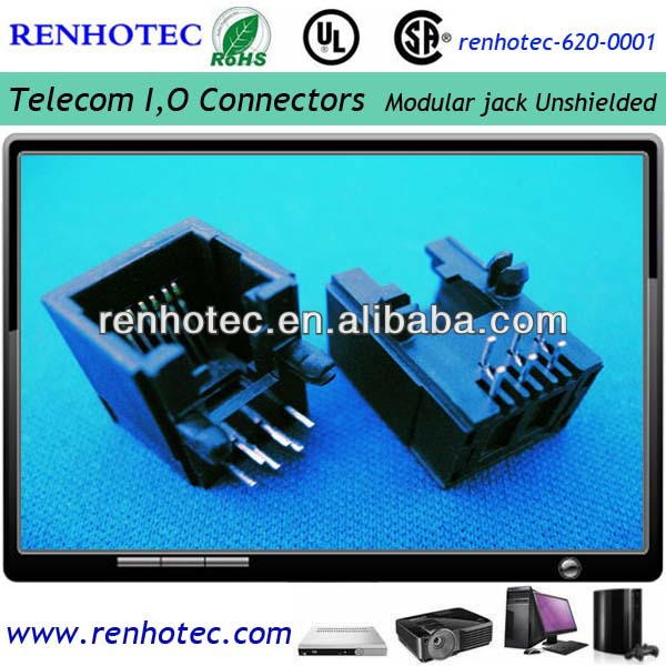 6P6C side entry PCB RJ11 RJ45 Modular Jack rj45 connector