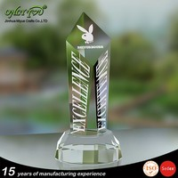 Factory price wholesale engraving tower awards crystal selling well all over the world