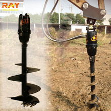 Excavator attachment earth auger ground pole drilling machine price