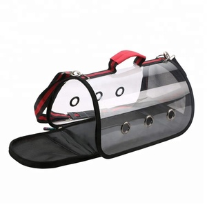 Portable Soft Sided Pet Carrier Single Shoulder Small Dog Carrier Breathable Simple Transparent Pet Carrier