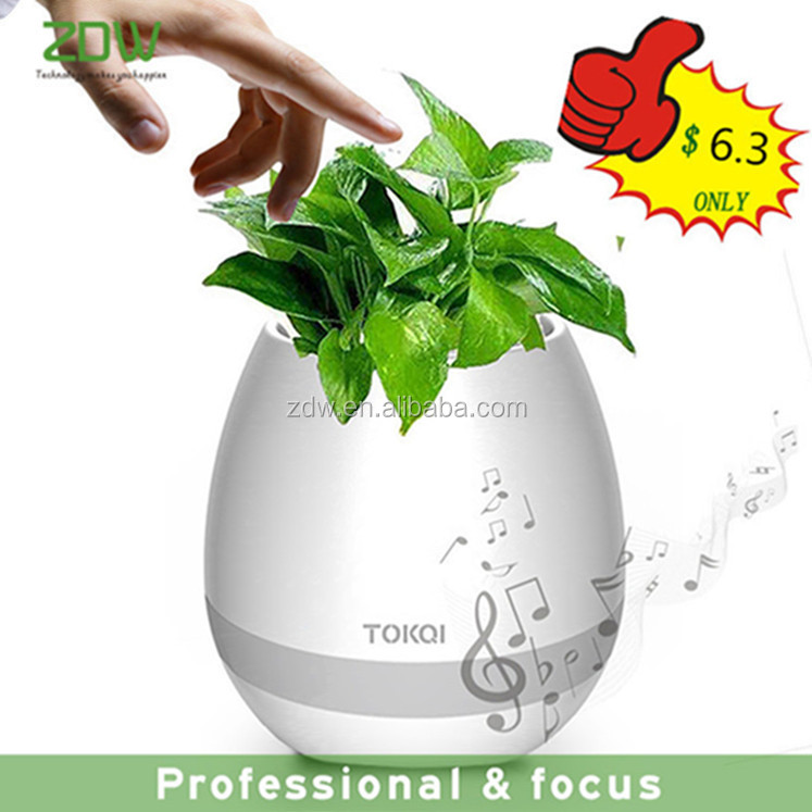 Music Flowerpot Smart Touch Music Lamp Rechargeable Wireless Play Piano Plant Bluetooth Speaker
