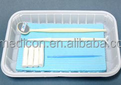 Disposable 5 in 1 medical dental instrument kit