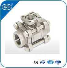3 Pcs Pieces WCB WCC BSP NPT Thread Ball Valve