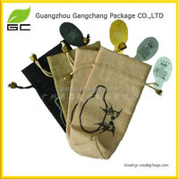 Various style promotion small jute bags drawstring packaging