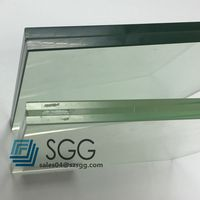 12mm safety double glass laminated glass used for office door and hotel door for partition wall
