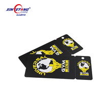 Printing Die-Cut Plastic Gym Membership Card, Snap Off Key Tag with Sequential Numbers , China Manufacturer