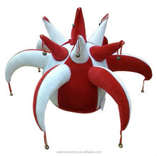 OEM wholesale Funny Crazy Event Party Carnival Jester Clown Hats with Horns