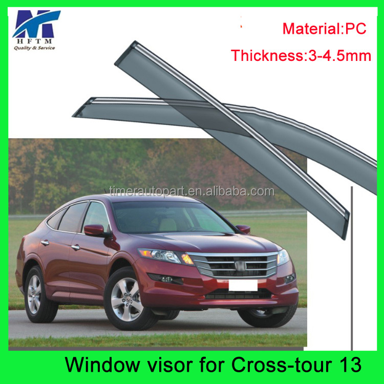 Quality 100% 3D best car rain gutter for crosstour 2013