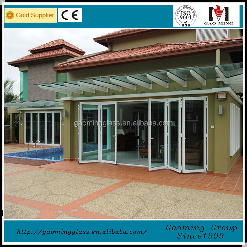 Aluminum Frame Single Panel Entry Pivot Glass Door