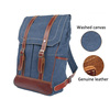 2016 New Fashion Best Men Blue Canvas Backpack For 15 inch Laptop Satchel Computer Book Bag