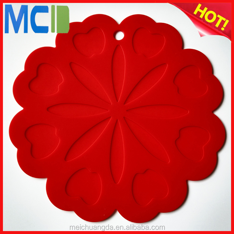 New Products Silicone Pot Holders Heat Resistant Kitchen Table Mat Dinner Mat