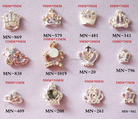 High quality hot selling rhinestone 3d nail art decoration product/crown rhinestones nail art for wholesale