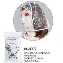 New Style Waterproof PE folding rain hat/rain hood